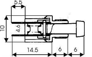 Pulsante Unipolare in miniatura N.C 1A-125 Vca Nero