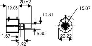 Potenziometro di precisione 10 giri 2W 5 Kohm Vishay