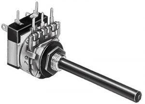 Potenziometro in miniatura con interruttore D 16  100  Kohm  Log
