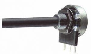 Potenziometro in miniatura strato carbone D 16  2,2  Mohm  Log